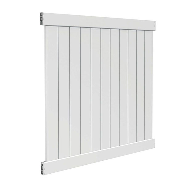 6'H x 6'W T & G Privacy Section White