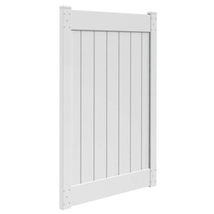 6'H x 4'W T & G Privacy Walk Gate White
